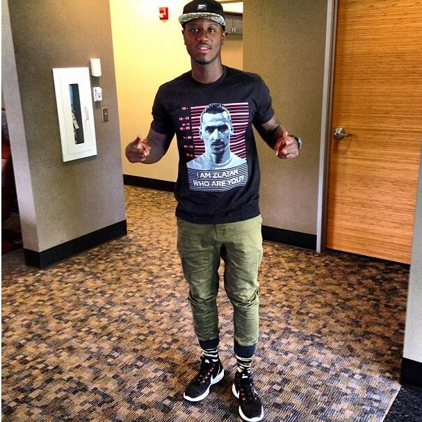 Eddie Johnson wearing LBF