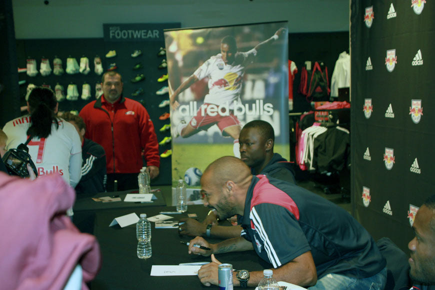 Thierry Henry inside Adidas Performance Store, New york City