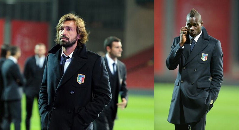 Andrea Pirlo the Godfather and Mario Balotelli.