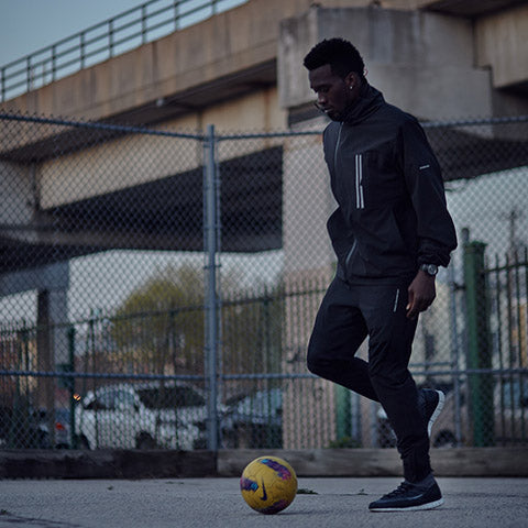 Cj sapong wears LBF maestro jacket