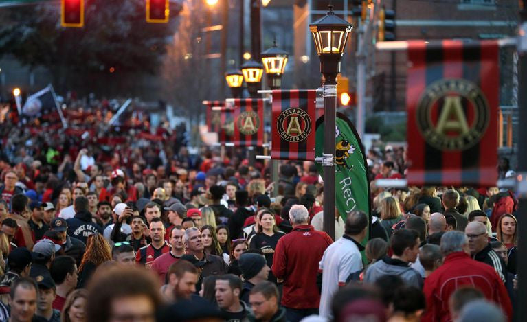Fans packed the streets before kickoff the Atlanta United's inaugural season in MLS.