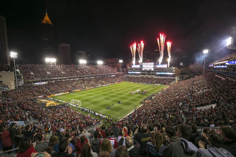 Just before kickoff of Atlanta United's first game in MLS