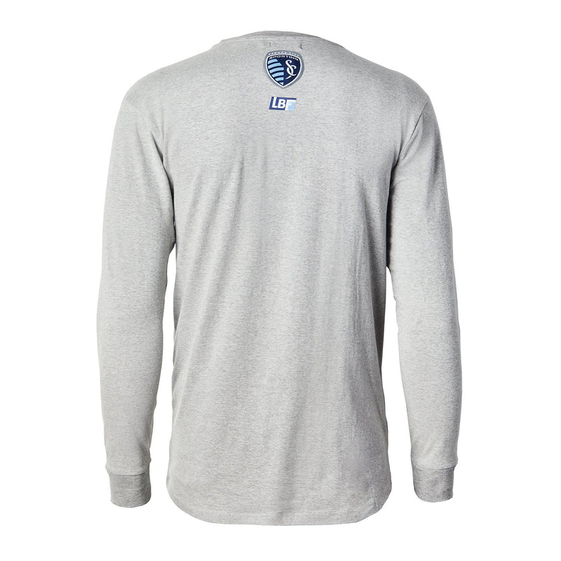 Sporting KC Gray Long Sleeve Pocket Shirt