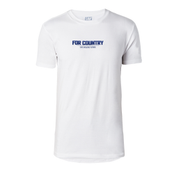 "Men's ""For Country"" SS Tee - White"