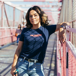 "Women's ""For Country"" SS Tee - Navy"