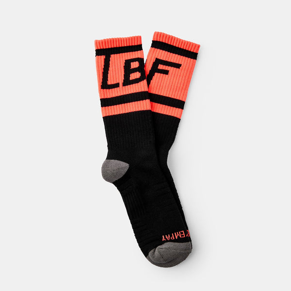Box Logo Socks (Black+Red)