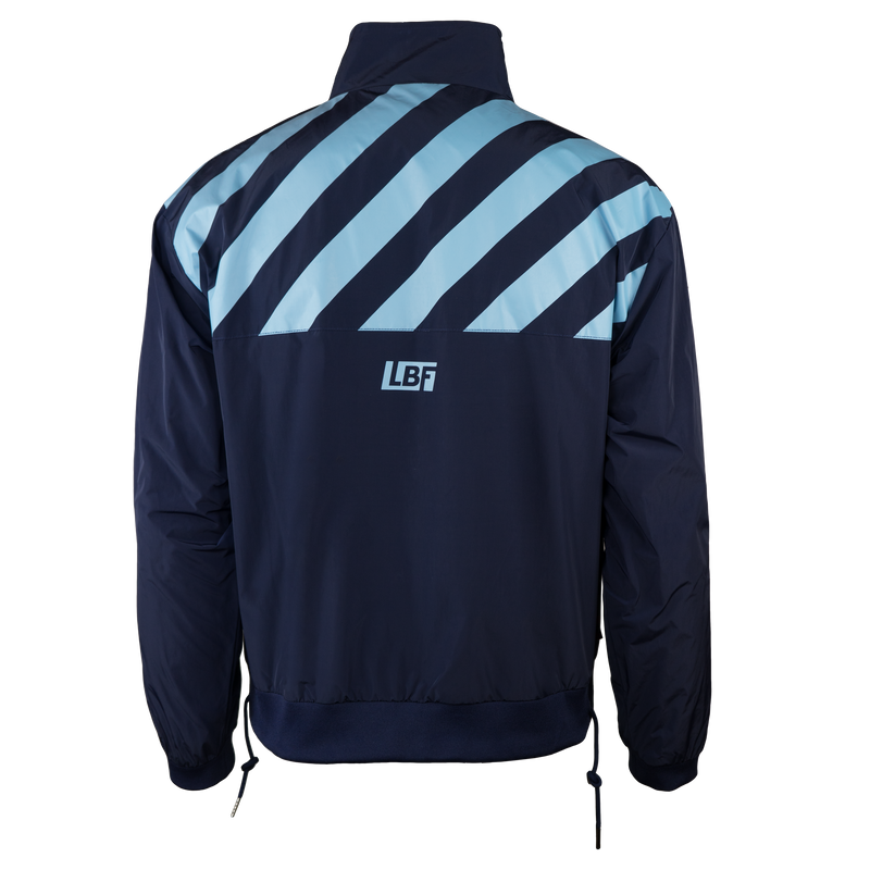 Sporting Club Striped Windbreaker