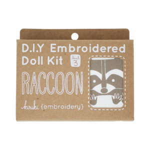 Raccoon DIY Embroidered Doll Kit
