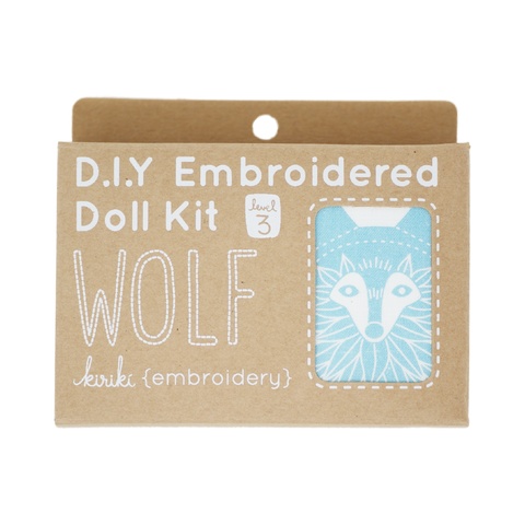 Wolf DIY Embroidered Doll Kit