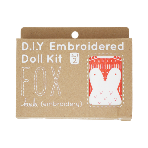 Fox DIY Embroidered Doll Kit