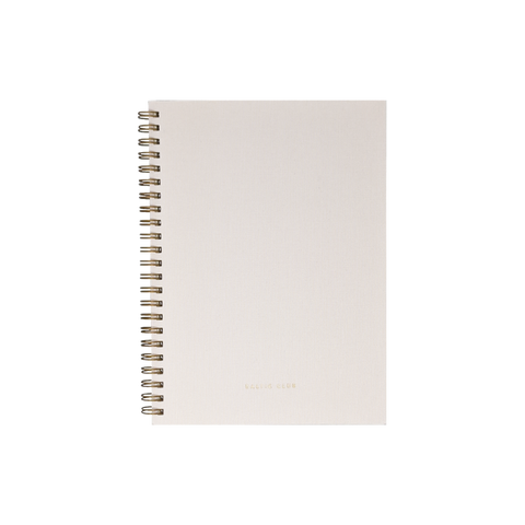 Rose Cloth Spiral Notebook
