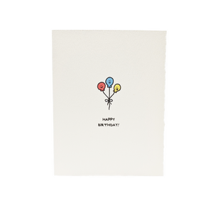 Happy Birthday  Card - Balloons