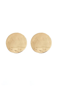 The Code Full Moon Gold Earrings