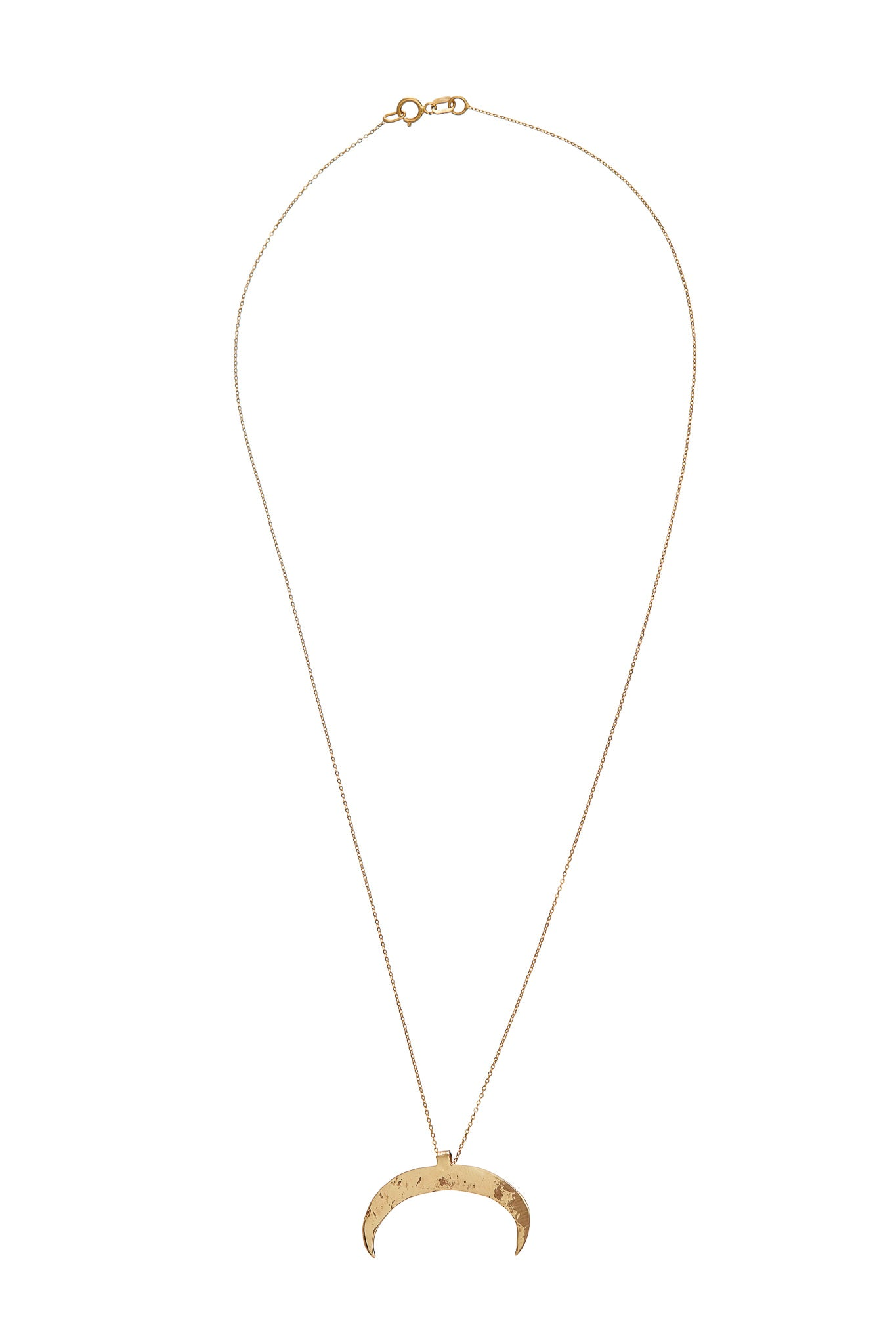 The Code Half Moon Gold Necklace