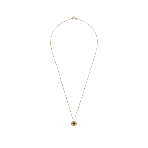 Love Knot mini coin necklace