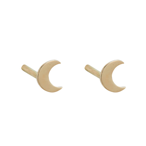 Crescent Moon Mini Studs