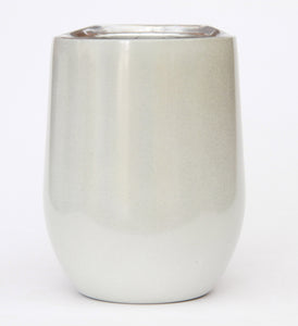 Stemless Stainless Steel Glitter Wine Tumbler