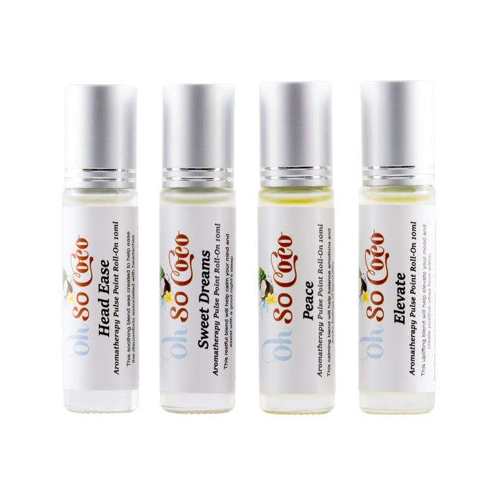 Aromatherapy Pulse Point Roller 4 Pack