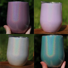Load image into Gallery viewer, Stemless Stainless Steel Glitter Wine Tumbler