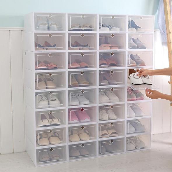 Shoe Box Organizer Stacking Storage Box
