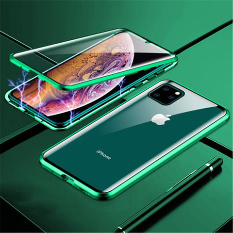 Magnetic Adsorption Two Side Glass Case for iPhone11 Series