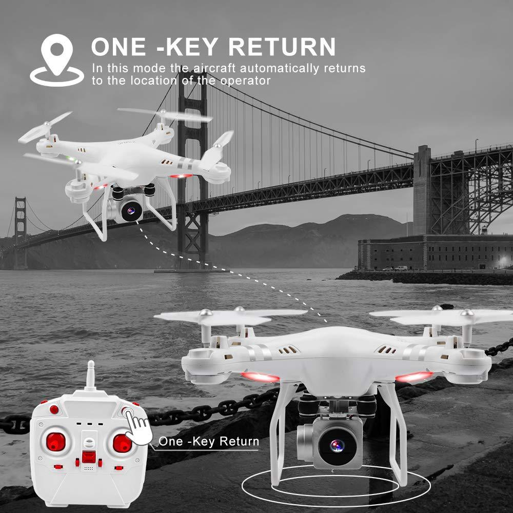 Cute Valentines Day Gifts For Him-Waterproof Wifi Drone Splash Auto with 1080p Camera Live Video and GPS