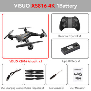 XS809S XS816 BATTLES SHARKS Drone 720P / 4K WIFI FPV With Wide Angle HD Camera Foldable RC Quadcopter