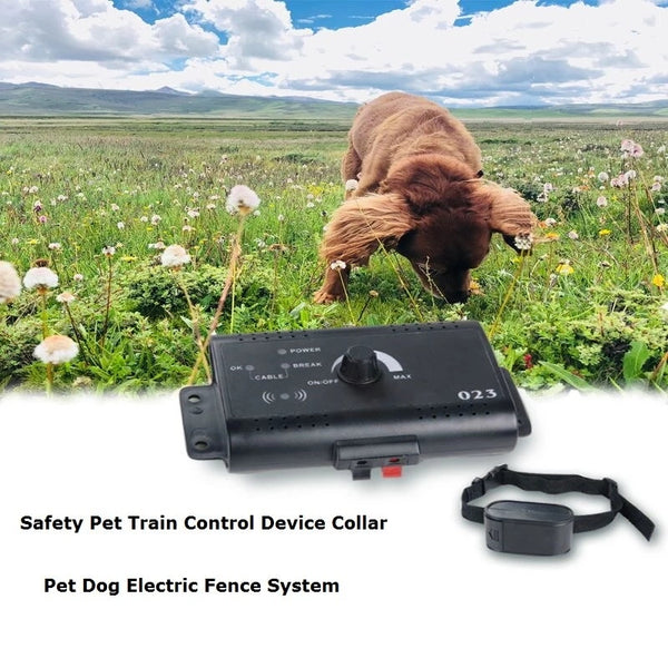 Electric Dog Fence Collar Containment System Waterproof Pet Train Control Device