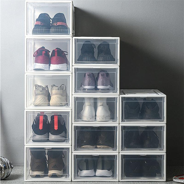 Shoe Box Organizer Dust Proof Water Proof Stacking Storage Box