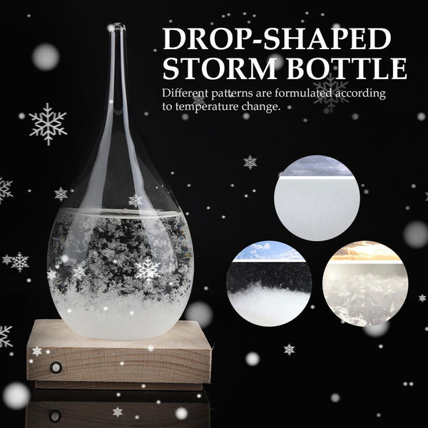 Storm Glass Weather Predicting Forecast Bottle Crystal