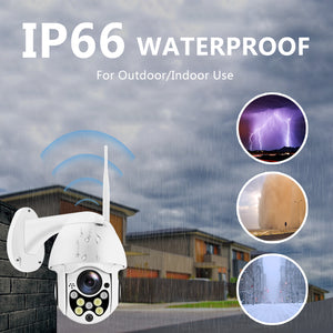 Wireless Wifi IP Camera 1080P PTZ Outdoor Speed Dome Security Camera