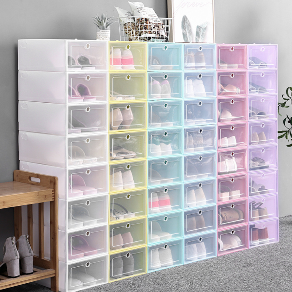 Shoe Box Orgnizer - Stacking Storage Box Shoe Container