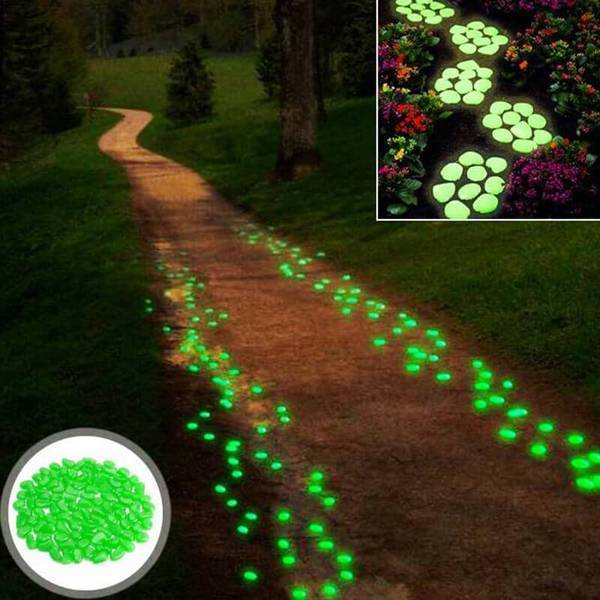 Glow In The Dark Gravel Pebbles Luminous Garden Rocks