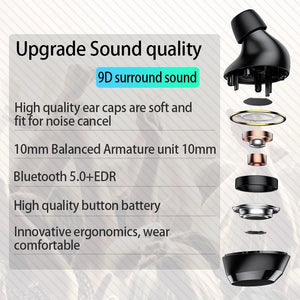 Bluetooth Wireless Waterproof Earbuds With LED Display and Phone Charging Case