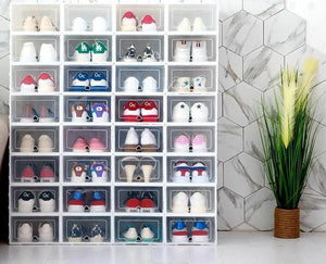 Shoe Box Orgnizer - Stacking Storage Box Shoes Container