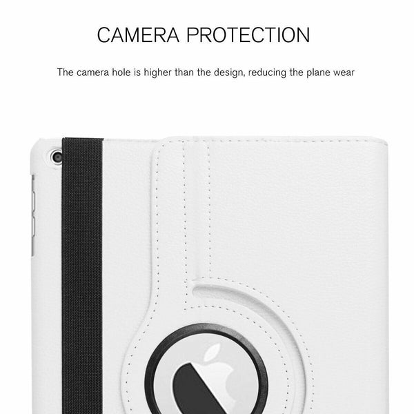 "360° Rotating PU Leather Magnetic Smart Stand Case Cover for 2019 iPad 10.2"" 7th Generation"