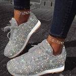 Women Muffin Sneakers Rhinestone New Crystal Platform Sneakers