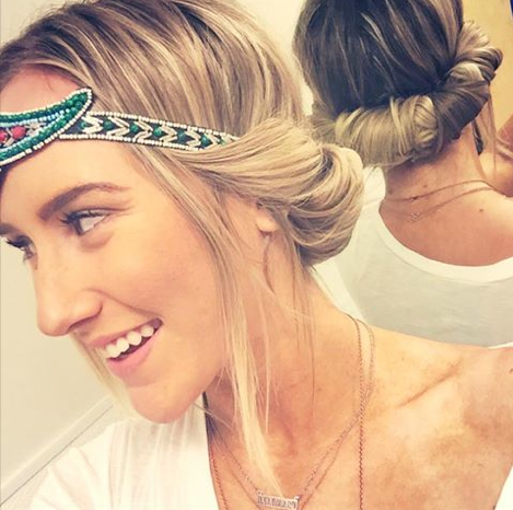 How to wear Headbands and get curls from Three Bird Nest