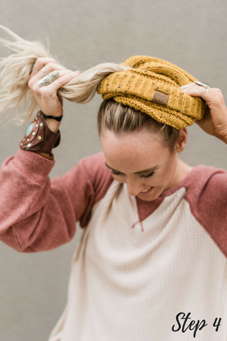 cute messy bun beanies three bird nest