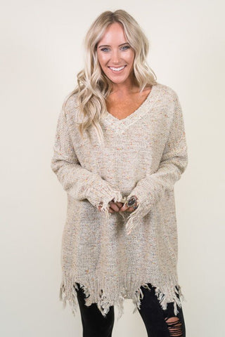 3 Ways To Wear Distressed Tunic Sweater