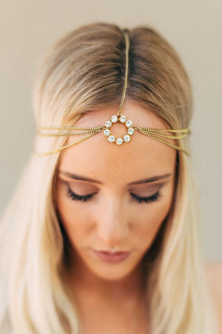 jeweled wedding headband
