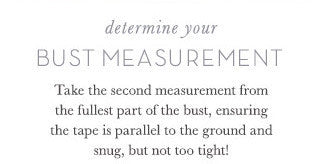 How to Get Your Bust Measurements