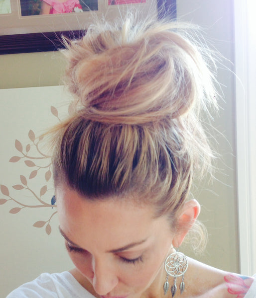 Messy Top Knot Bun Tutorial