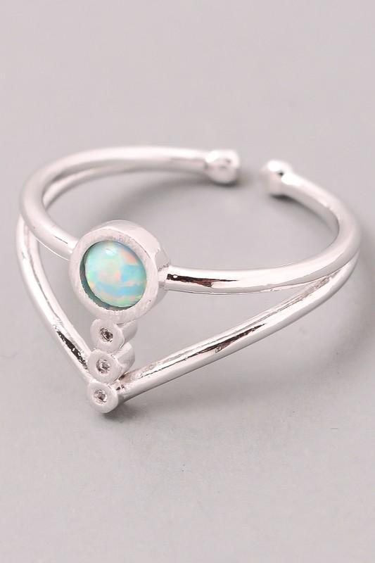Opal Orb Stone Ring