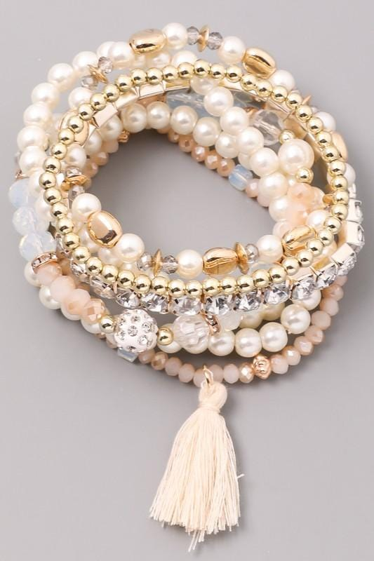Golden Goddess Beaded Bracelet Set