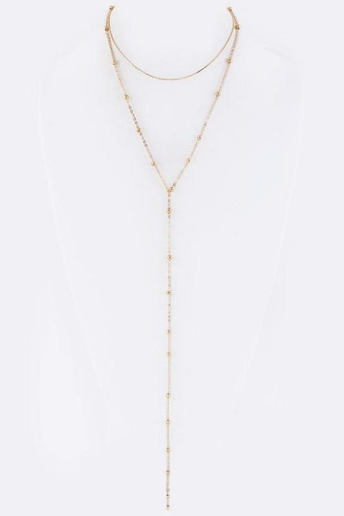 Dew Drop Chain Layering Necklace