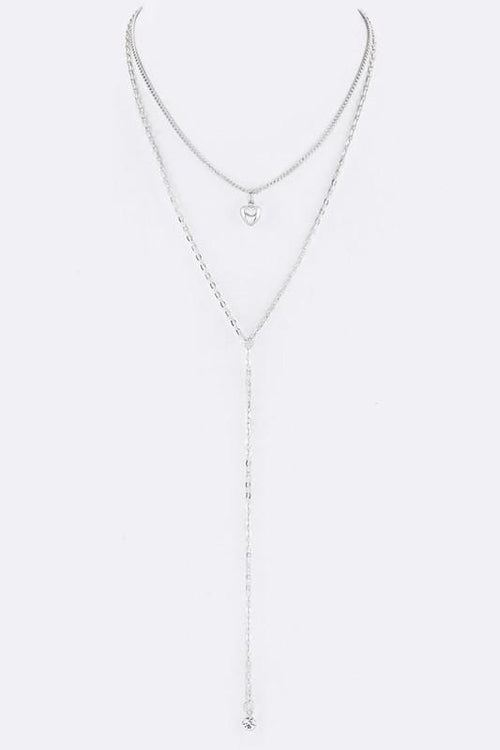 In My Heart Layering Chain Necklace - Silver