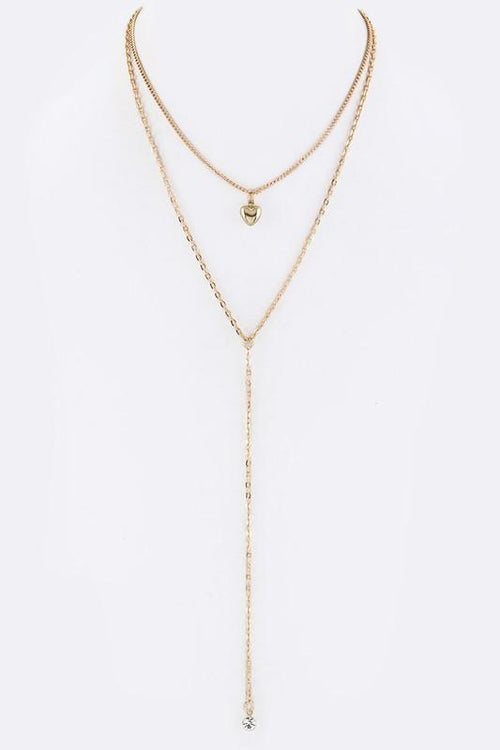 In My Heart Layering Chain Necklace - Gold