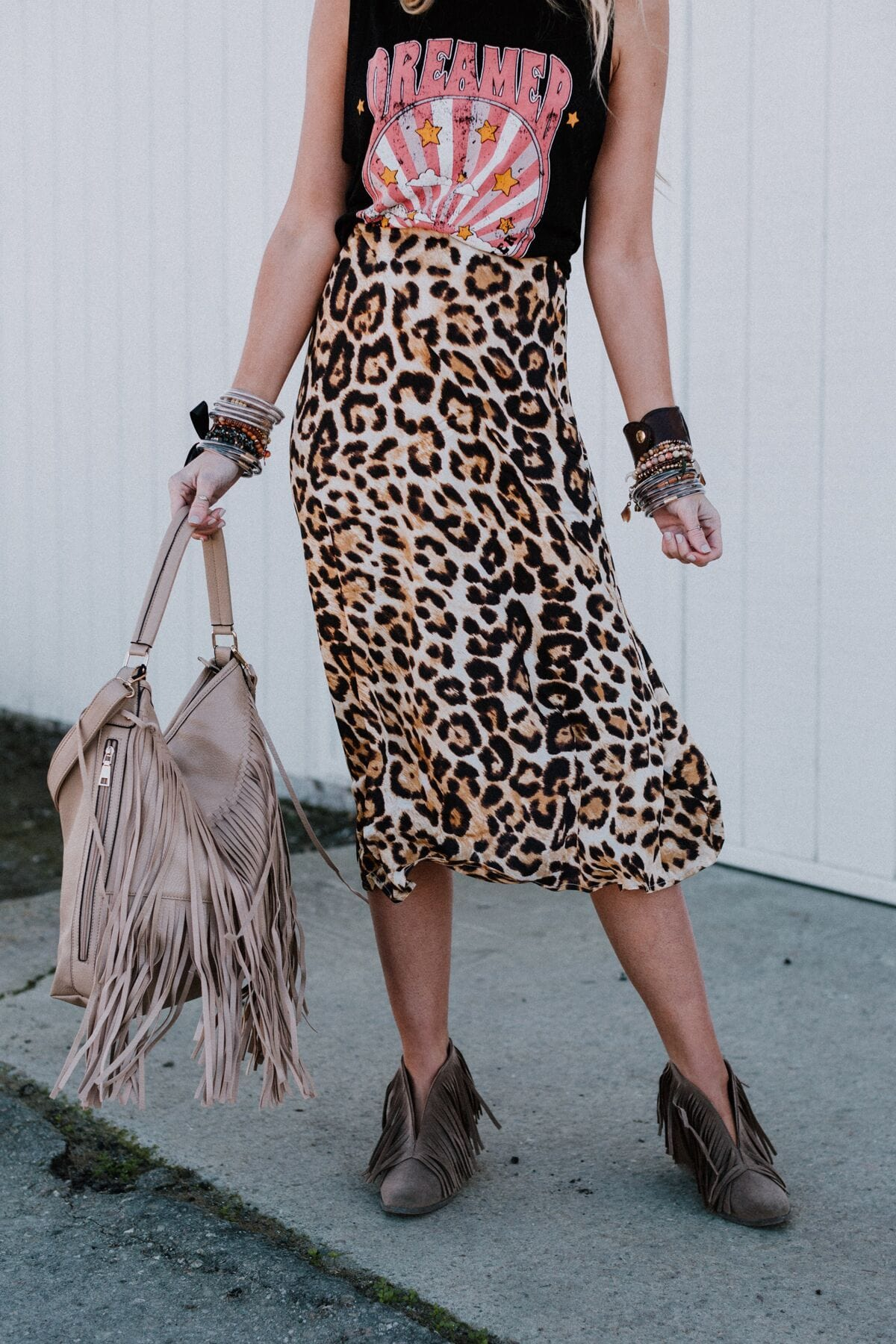 Image of Into The Wild Leopard Skirt