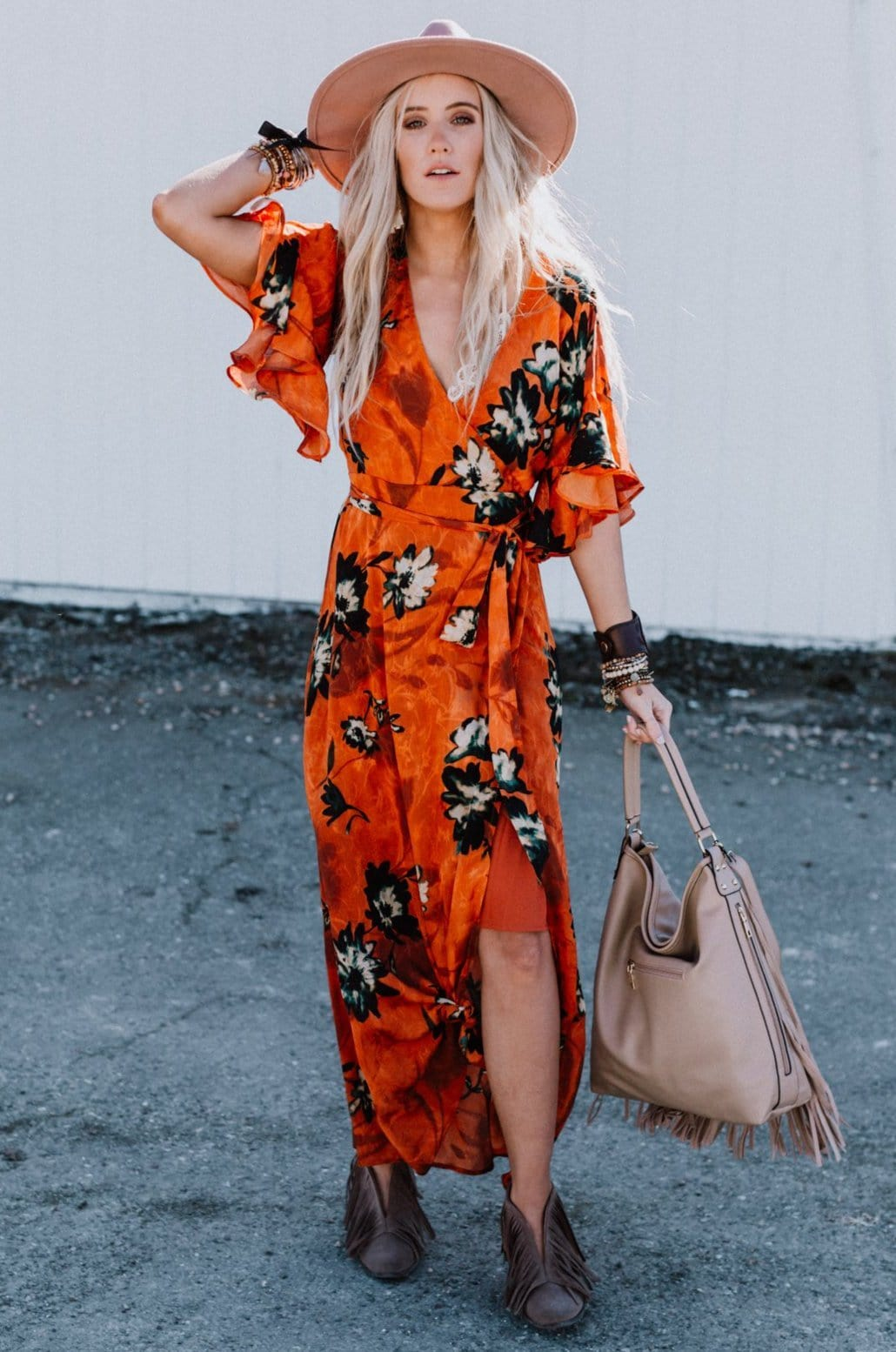 Image of Greta Floral Wrap Dress